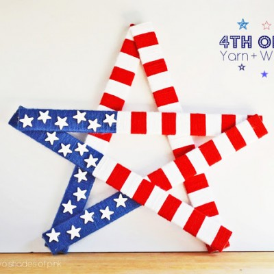 4th of July Yarn and Wood Star