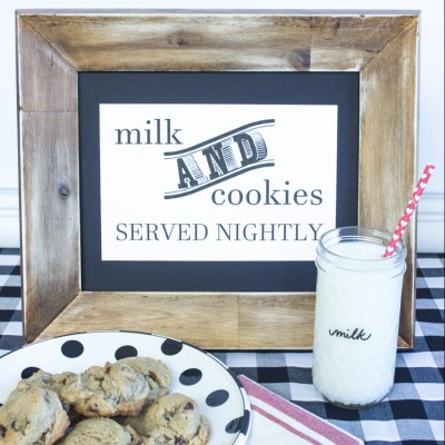 Cookies and Milk Free Printable