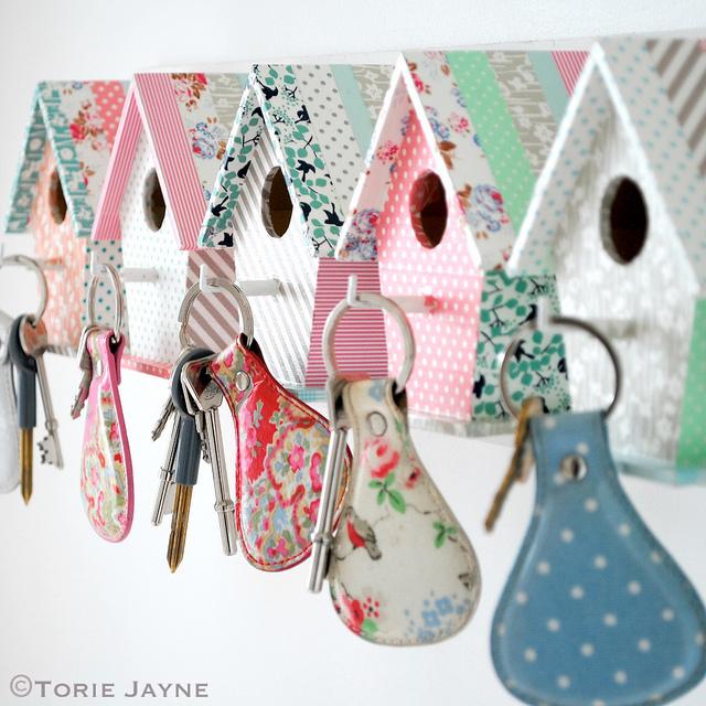 Key Hook birdhouses 1