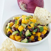 Mango Avocado Black Bean Salsa