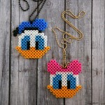 Daisy and Donald Perler Bead Necklaces