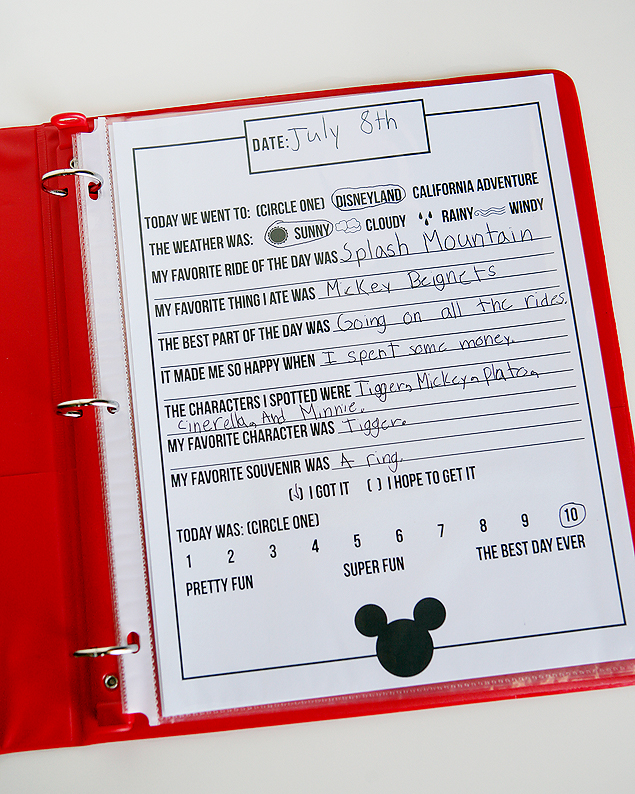 Free Printable Disney Journal Pages