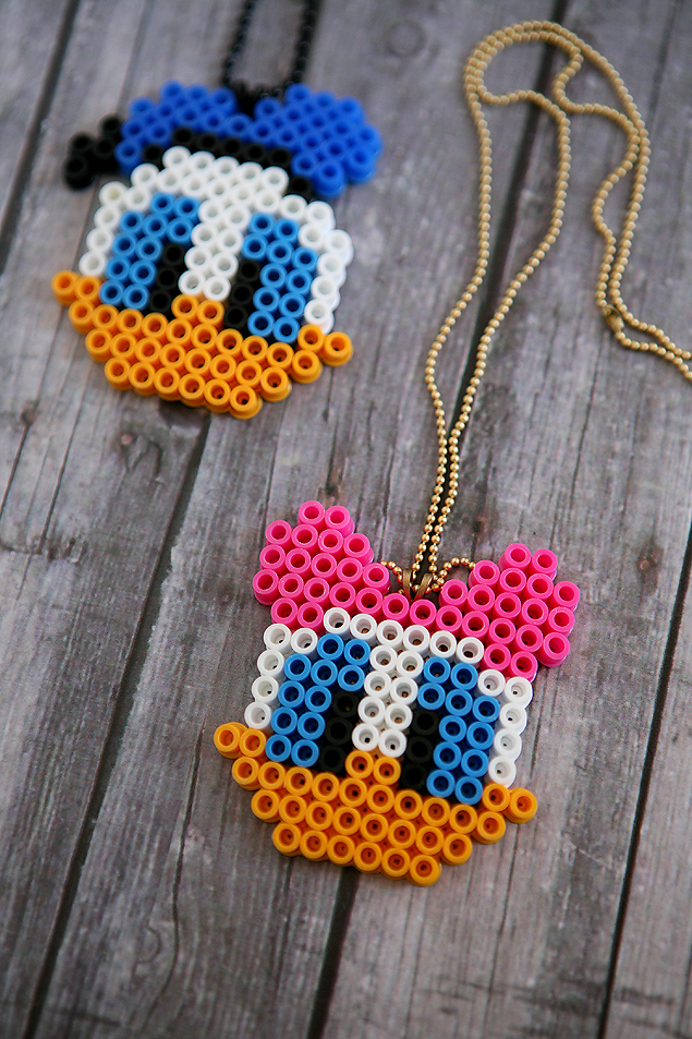 disney perler bead necklaces