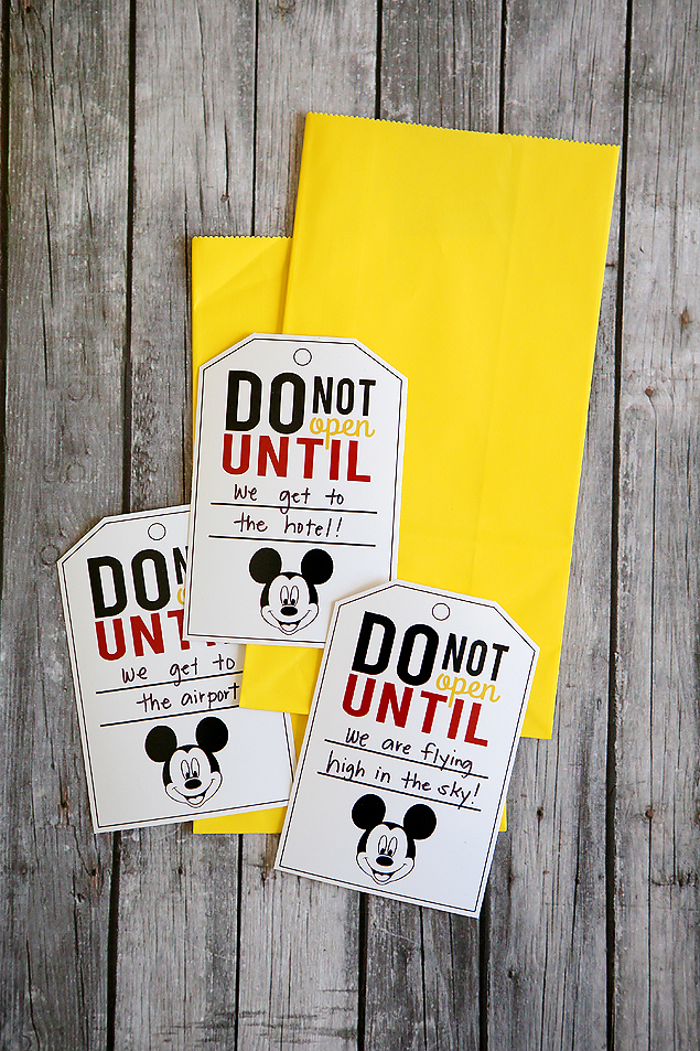 do not open until disney tags