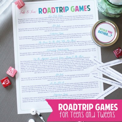 Roadtrip Games For Tweens and Teens