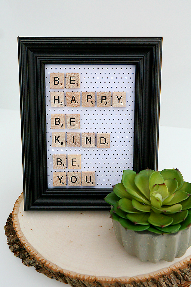 be happy scrabble frame