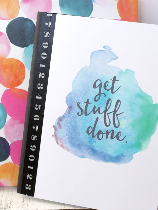 How To Make A Book Cover In Paint : Free printable watercolor notebook covers eighteen