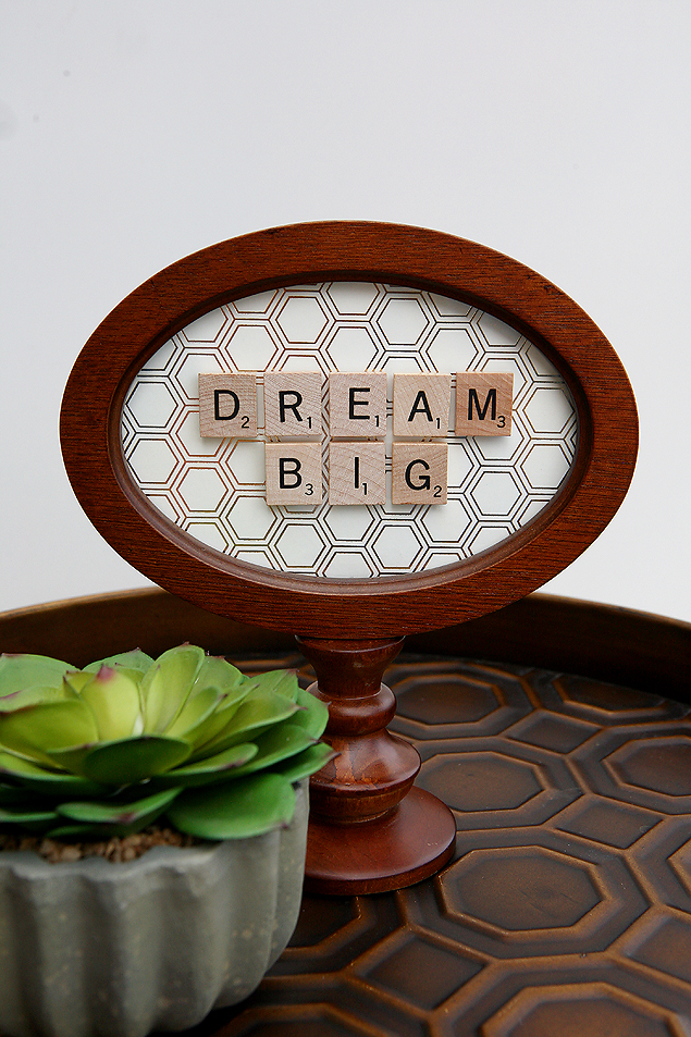 dream big scrabble frame