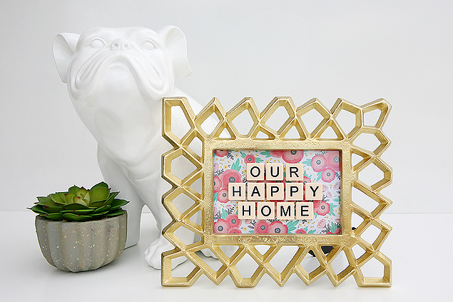 our happy home game tile frame