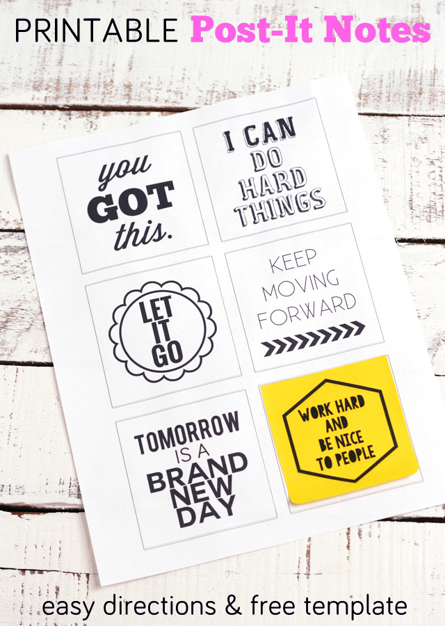 Inspirational Printable Post-It Notes