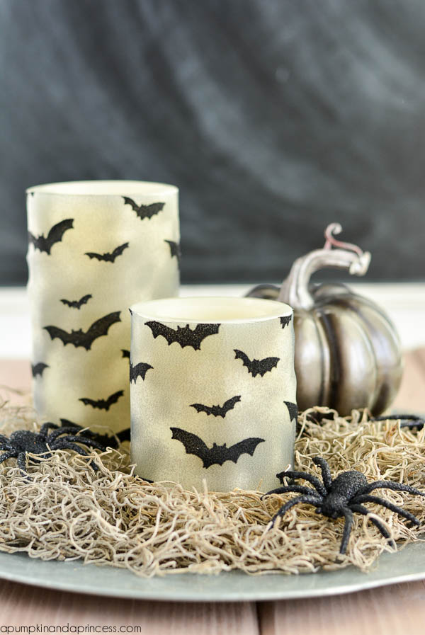 DIY-Halloween-Bat-Candles