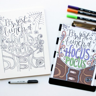 Hocus Pocus Coloring Page Eighteen25