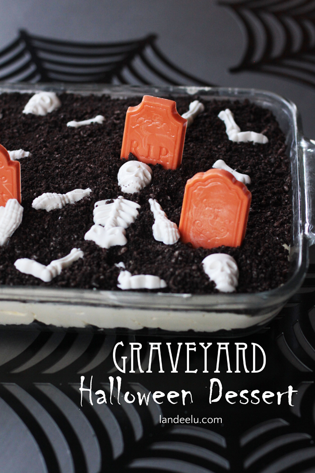 Delicious and Slightly Creepy Graveyard Dessert for Halloween