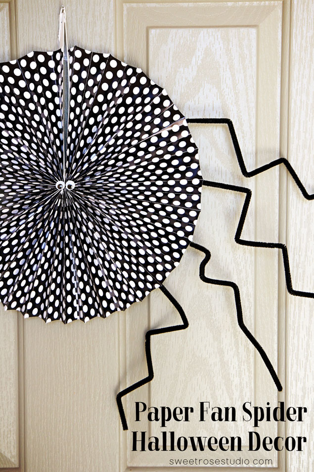 Paper-Fan-Spider-Halloween-Decor-at-Sweet-Rose-Studio
