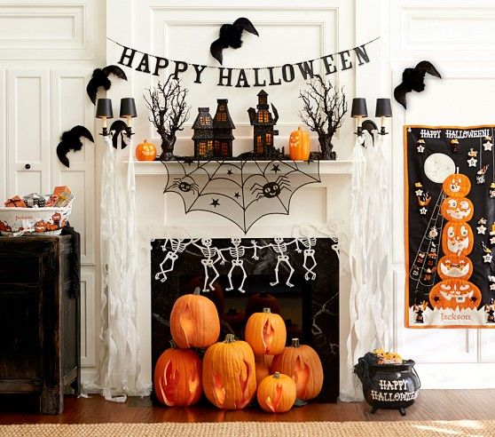 Pottery Barn Kids Halloween Mantel