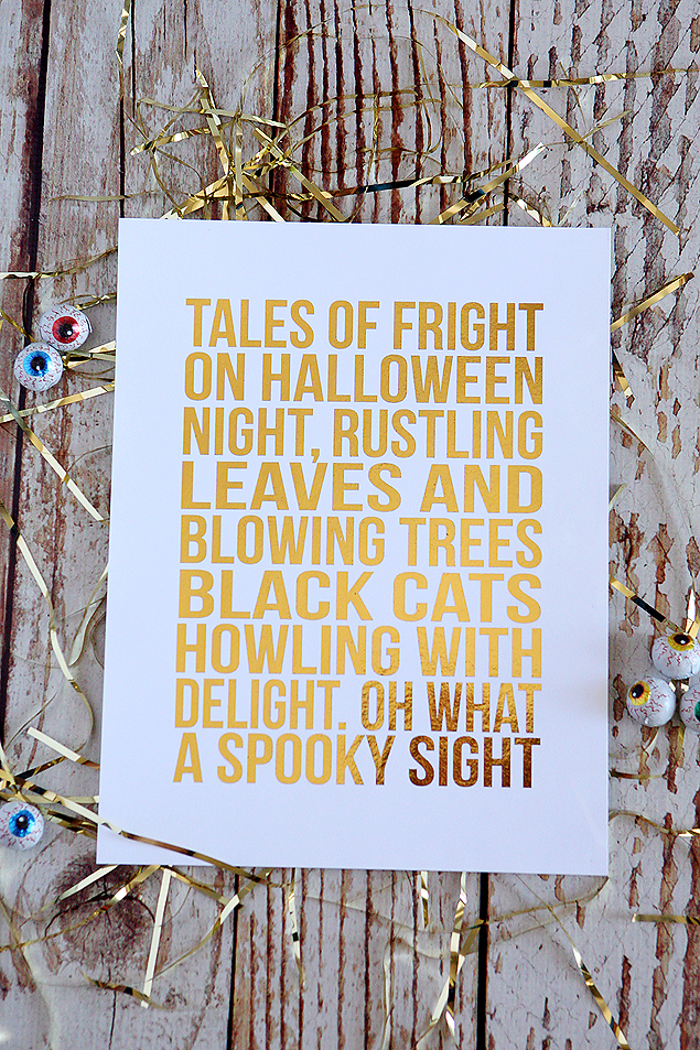 Tales of Fright foiled halloween print