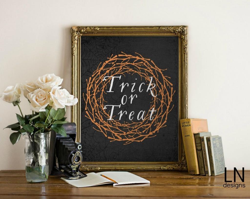 Trick or Treat Halloween Print