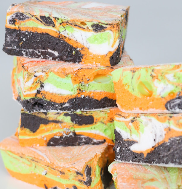 halloween marshmallows - close