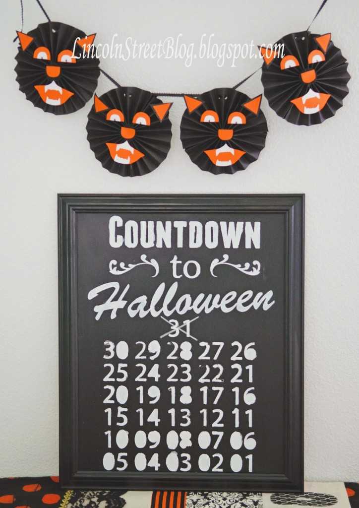DIY Halloween countdown. Too much fun!