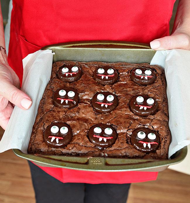 Fun Halloween Vampire Brownies
