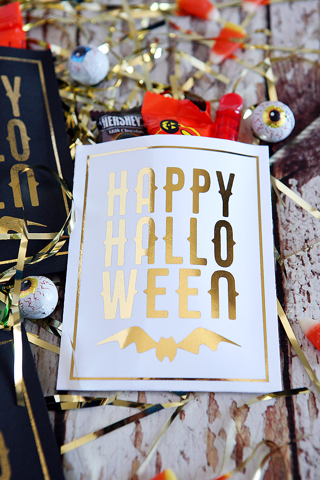 happy halloween bags foiled with the minc