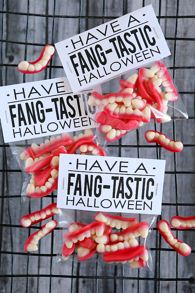 Have a Fang-tastic Halloween. Such a fun Halloween gift idea!
