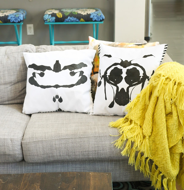 ink blot pillow - 7