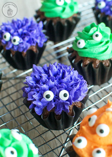 These Monster Cupcakes are the cutest!