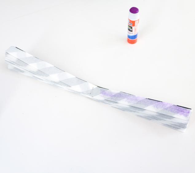 napkin paper fans - glue open sides together 635