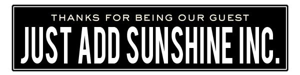 ss just add sunshine