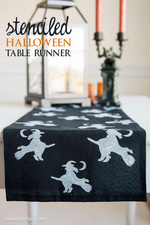 steciled-halloween-table-runner