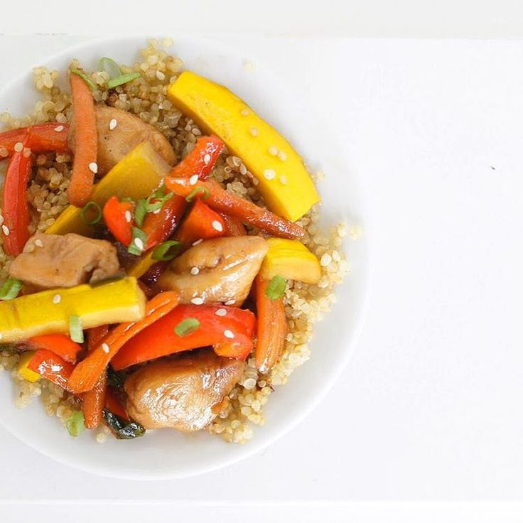 teriyaki chicken and veggies