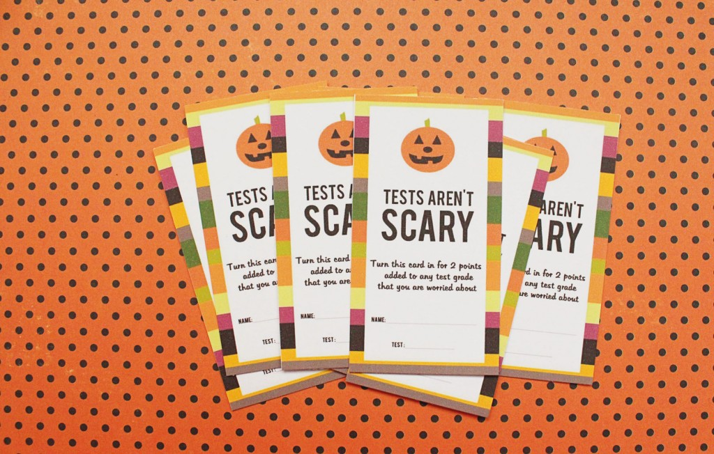 Test Aren't Scary Printables
