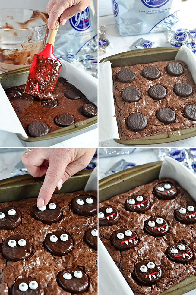 Vampire Brownies are an easy fun mint brownie treat for Halloween!