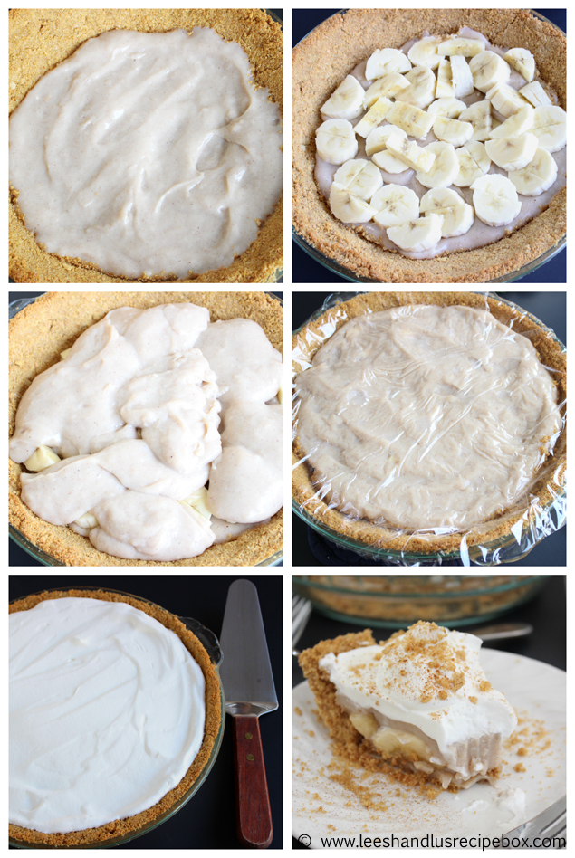 Assembly Cinnamon Banana Cream Pie Leesh and Lu's Recipe Box