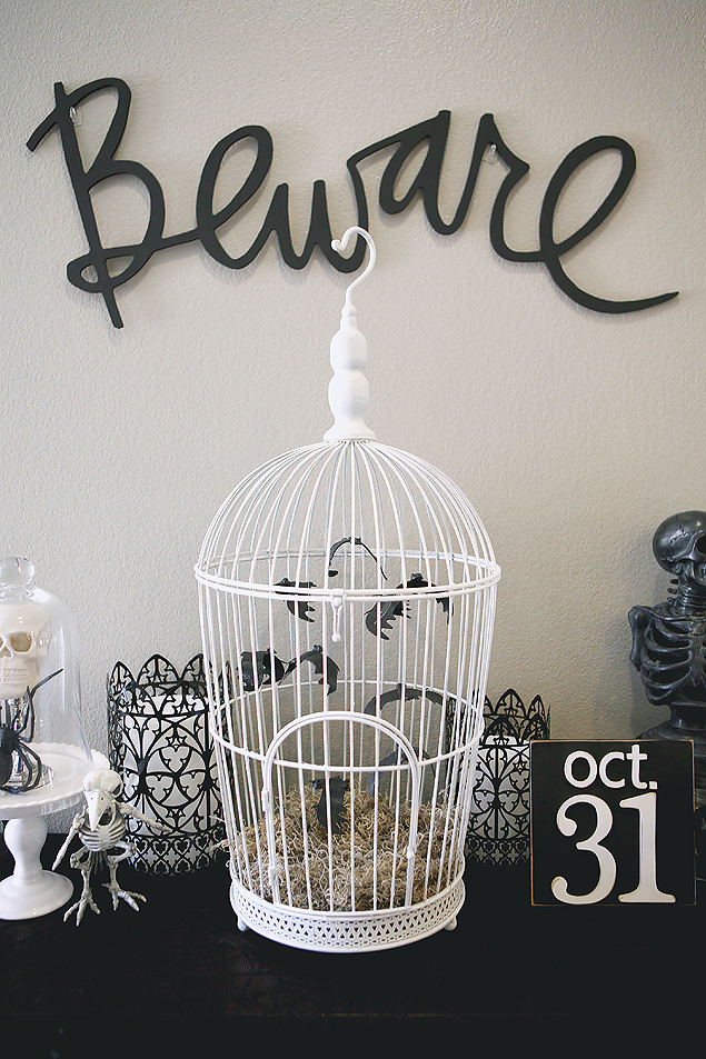 DIY Halloween Bat Cage. So cool!