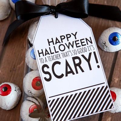 Happy Halloween Teacher Tag