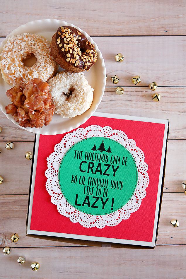The Holidays can be crazy so we thought you'd like to be lazy! Fun little gift idea to drop off to friends and neighbors.