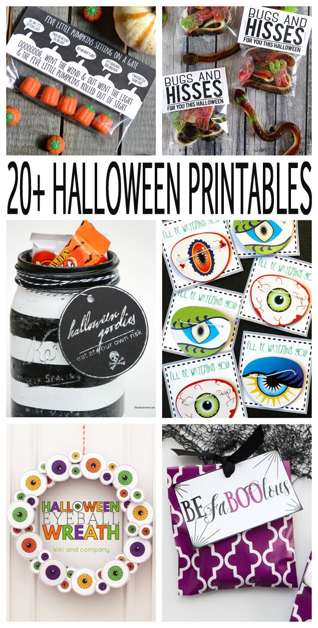 over 20 free halloween printables