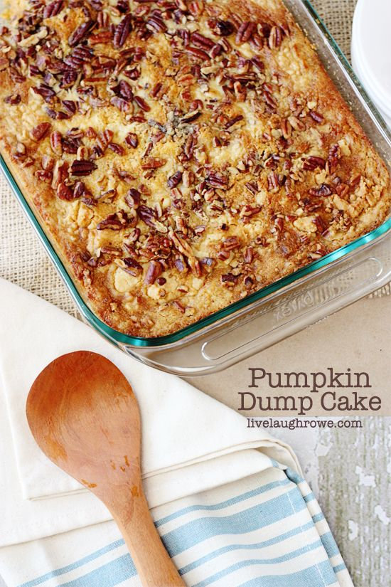 p pumpkin dump cake