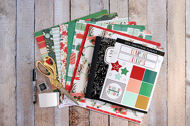 Christmas planner supplies