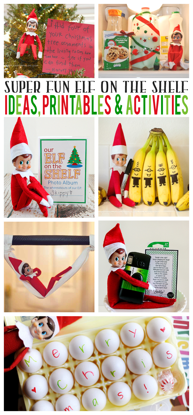 Elf On The Self Ideas, Printables and Activities