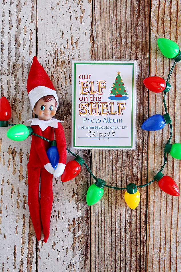 DIY Elf on the Shelf Photo Album. Costs about 2 bucks to make. Too fun!