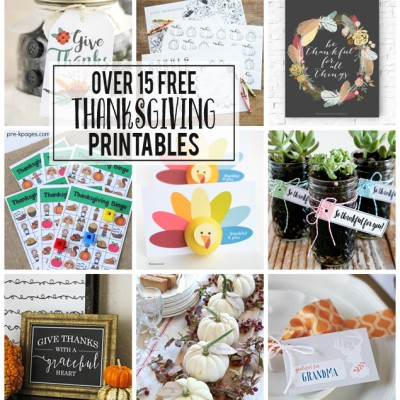 Free Thanksgiving Printables To Print Today