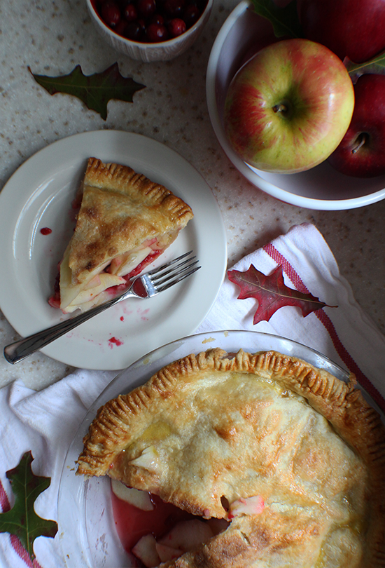 Amazing Apple Cranberry Pie. So worth making everything from scratch!