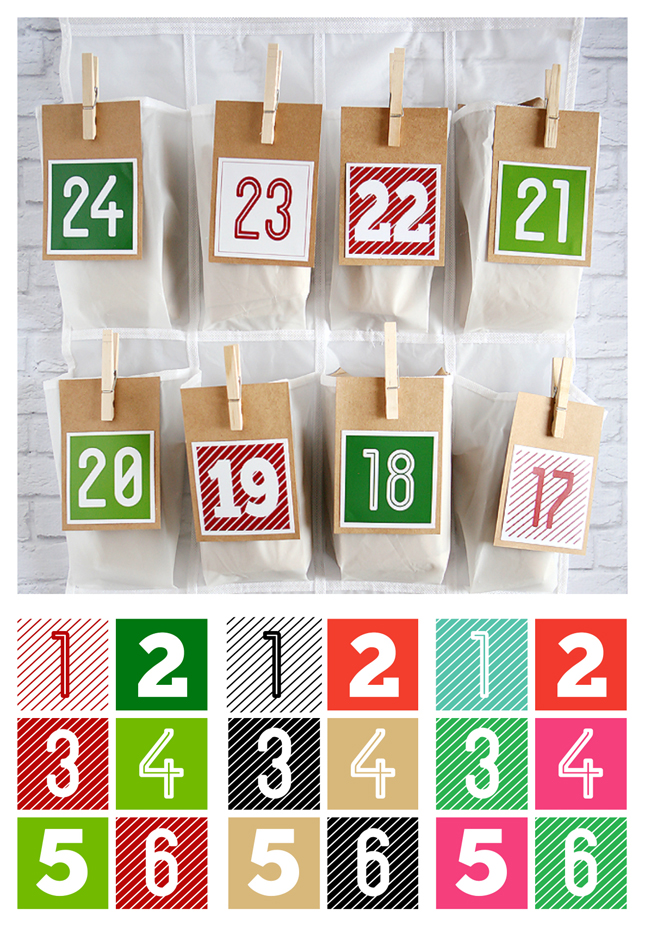 Shoe Organizer Christmas Countdown. A nice big countdown to fill with all sorts of fun things. My kids LOVE ours.