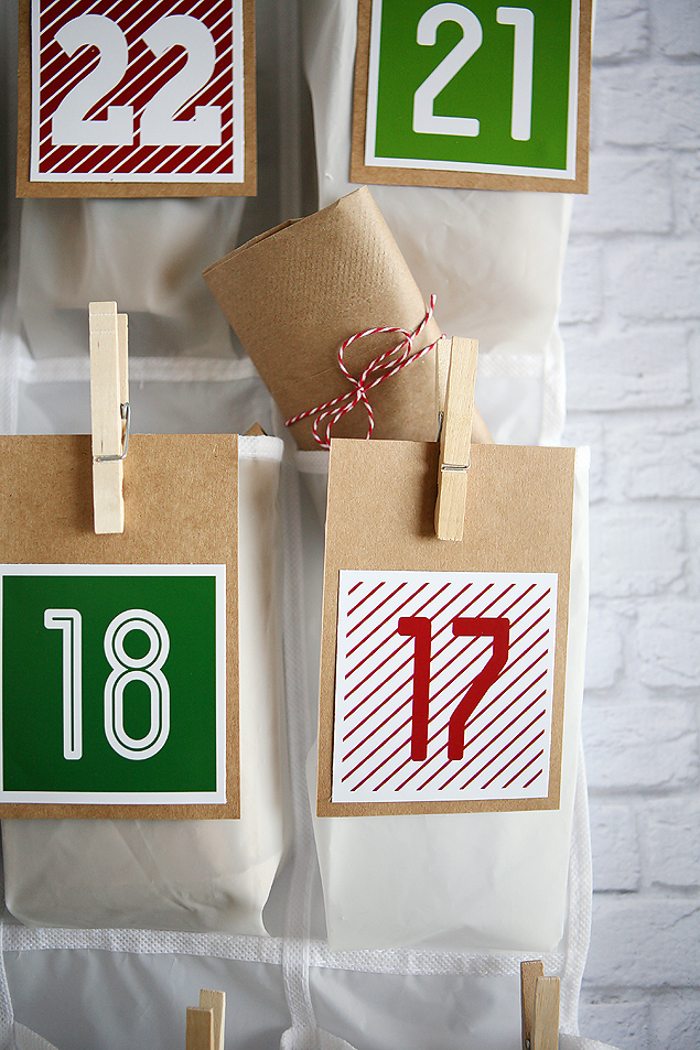 Shoe Organizer Christmas Countdown. A nice big countdown to fill with all sorts of fun things. My kids will LOVE this!