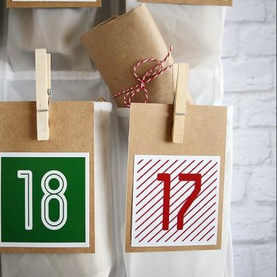 Shoe Organizer Christmas Countdown