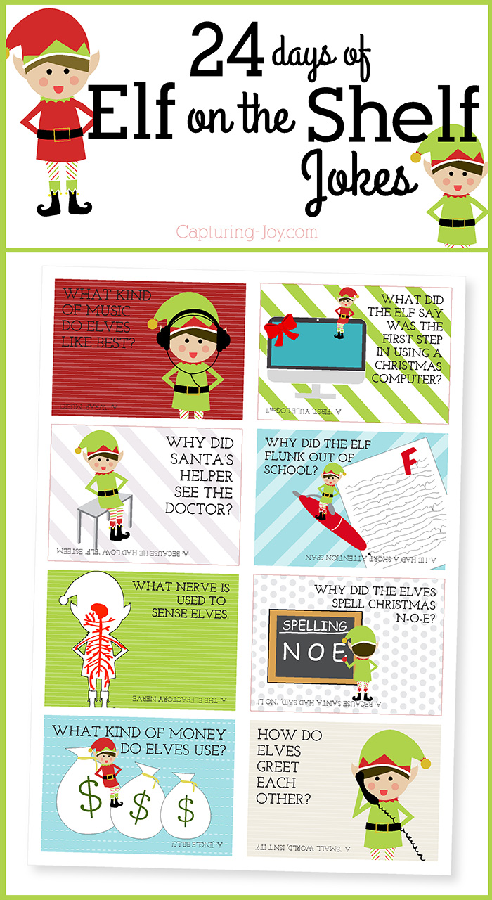 Elf On The Shelf Ideas, Printables & Activities - Eighteen25