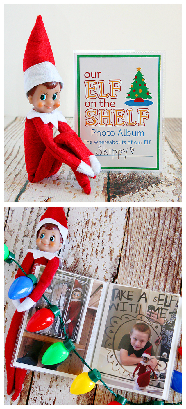 elf on the shelf photo album collage 640